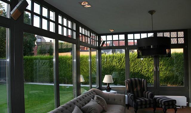 wintertuin met zonnewering