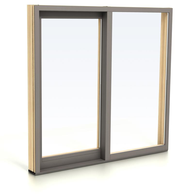 hout met aluminium ramen en deuren