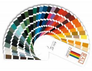 800 vlakke, glanzende of matte RAL kleuren